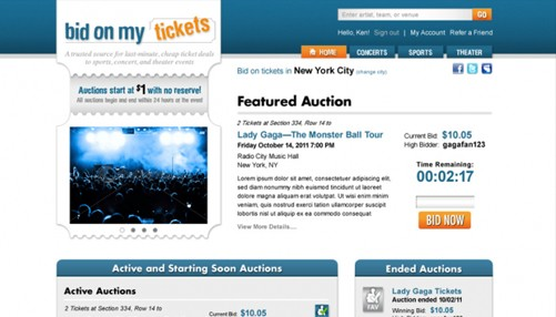 ticket website design company