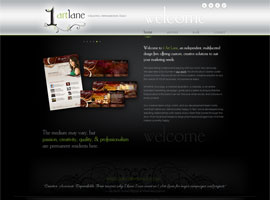 1 Art Lane website design by dzine it
