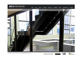 Arc 3 Construction website design by dzine it