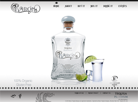 Baron Tequila website design by dzine it