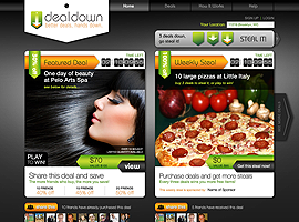 Deal Down website design by dzine it