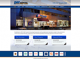 DGC Capital Contracting Corp. website design by dzine it