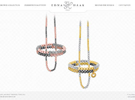 Edna Haak website design by dzine it