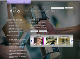 EMG Live Fitness website design by dzine it