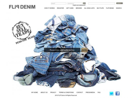 Flip Denim website design by dzine it