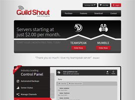 Guildshout website design by dzine it