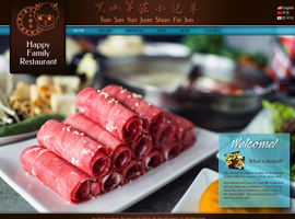 Happy Family Restaurant website design by dzine it