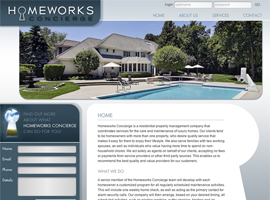 Homeworks Concierge website design by dzine it