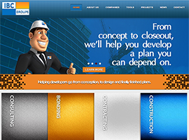 IBC Groups website design by dzine it