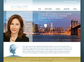 Jane Algus website design by dzine it