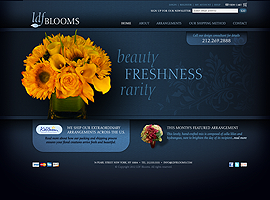 LDF Blooms website design by dzine it
