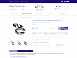 Lab Made Diamonds Ecommerce website design by dzine it