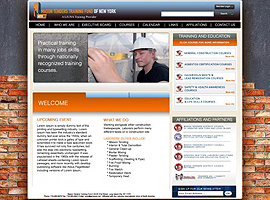 Mason Tenders Training Funds of NYC website design by dzine it