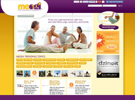 Meogi Social Yoga Community website design by dzine it