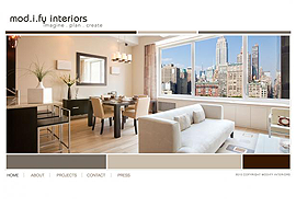 Modify Interiors website design by dzine it