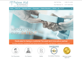 Prime Aid Pharmacy  website design by dzine it