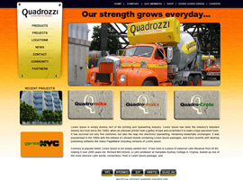 Quadrozzi website design by dzine it