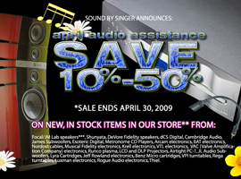 Sound By Singer April Sale
