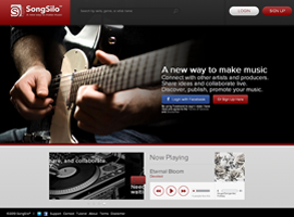 SongSilo website design by dzine it