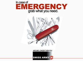 Swiss Army Knife Print Ad