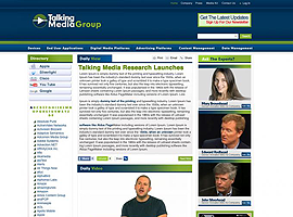 Talking Media Group website design by dzine it