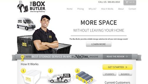 boxbutler website design