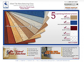 Allied Tile Manufacturing website design by dzine it