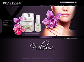Diane Young website design by dzine it